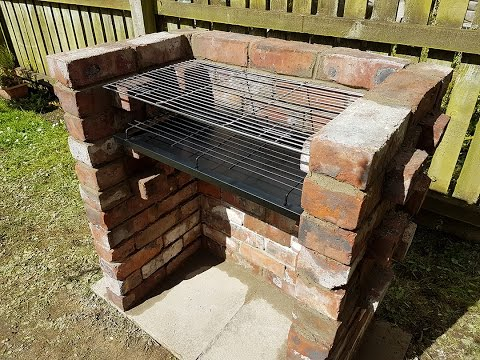 My first and last bricks project - BRICK BBQ GRILL