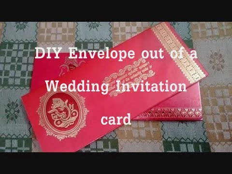 DIY Envelope out of Wedding Invitation cards || Recycle