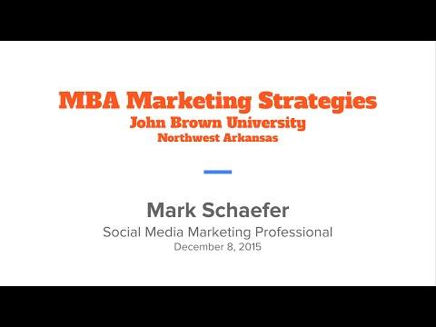 Class #7 / Mark Schaefer | JBU MBA Marketing Strategies:21st Century Social Media Marketing