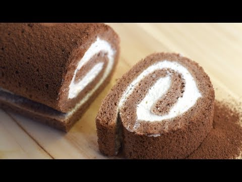 Chocolate swiss roll recipe/ Chocolate Roulade Easy Recipe