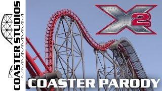 Download Coaster Parody: X2 at Six Flags Magic Mountain Video