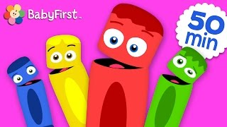 All of the Colors | Coloring for Kids | Learn the Colors | Color Crew | BabyFirst TV