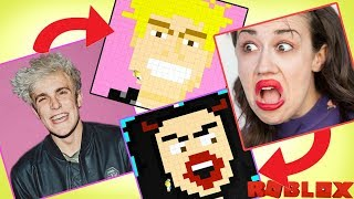 Painting Famous YouTubers in Roblox - Jake Paul, Miranda Sings, Baby Alan / Gamer Chad Plays