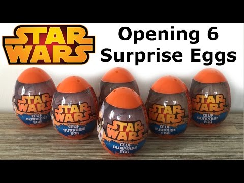 Opening 6 NEW Star Wars Surprise Eggs - BEST one ever, Kinder Surprise, Darth Vader, Stormtroopers.