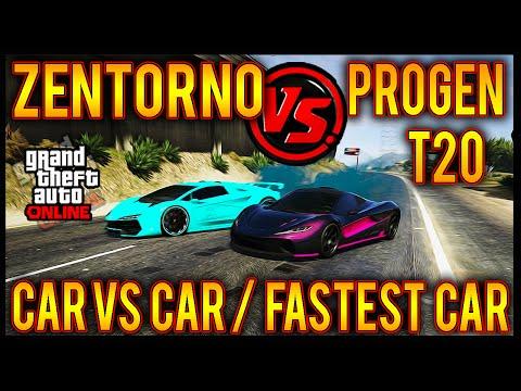 GTA 5 Progen T20 Vs Zentorno! LONG TRACK! Car Versus Car! Ill Gotten Gains Part 2! Fastest Car GTA 5