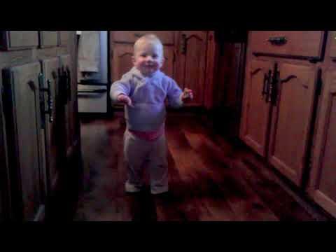 15 month old toddler walking