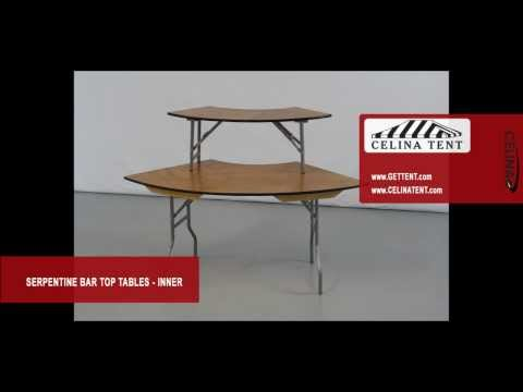 Serpentine Inside Bar Top Plywood Folding Tables