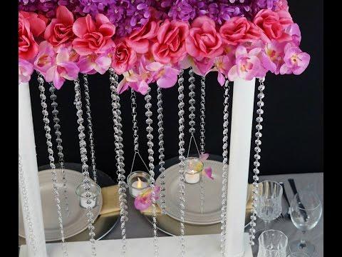 Flower Tower Wedding Centerpiece / DIY / How to Create this Flower Tower Wedding Centerpiece