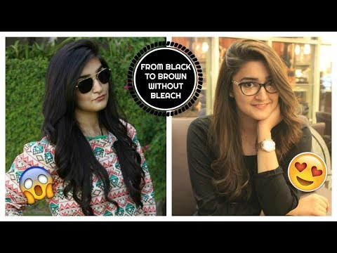 HOW I DYED MY HAIR FROM BLACK TO BROWN WITHOUT BLEACH | DIY