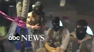 Download New purportedly shows masked Iranian commandos rappelling onto the British flagged ship Video