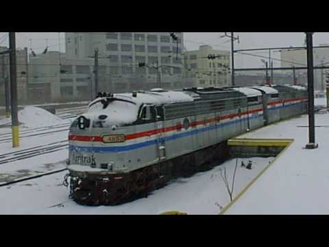 AMTRAK sunnyside in winter with narrative