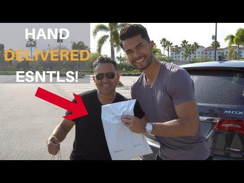 Hand Delivering An ESNTLS T-Shirt To A Customer