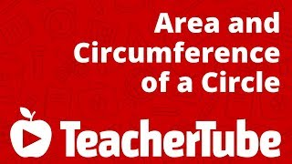 Area And Circumference Of Circle