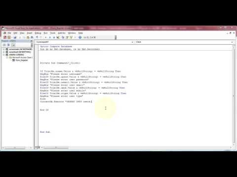 How To Create Multi User Login In Ms Access 2016 Part 3