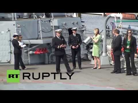 Latvia: US Navy destroyer docks in Riga port
