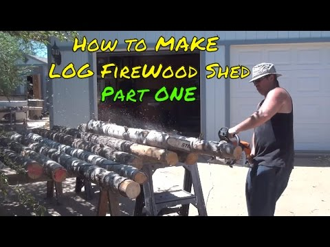 Building A BAD ASS Firewood Shed SHED p1