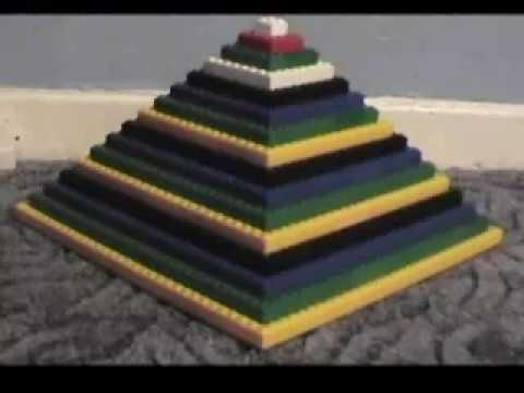 How a Pyramid really gets built - Egyptian lego Stop motion animation