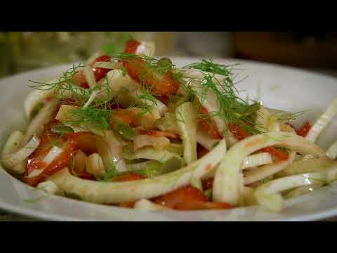 Cooking from the Garden: Antares Fennel and Delizz Strawberry Salad with Pepitas seeds