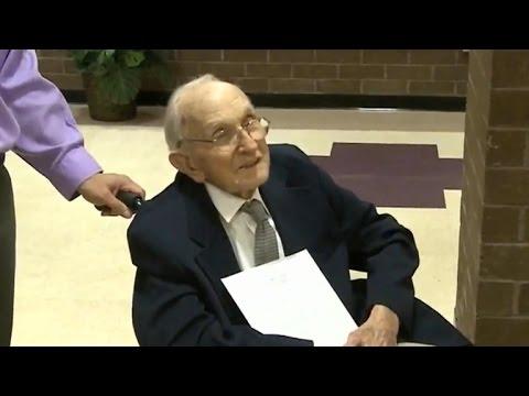 70 years later, World War II veteran receives high school diploma