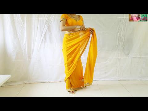 Designer Saree Blouse Draping:Beautiful Wedding Sari Choli Stylist Drape