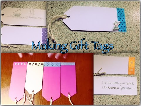 How to make gift tags out of old greeting, birthday cards. Creative Recycling.