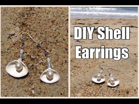 Shell Earrings DIY Vacation Souvenir Tutorial