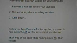 How To Type Spanish Symbols On Your Pc