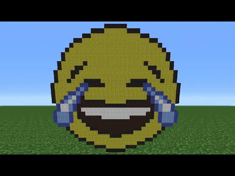 Minecraft Tutorial: How To Make A Laughing Crying Emoji