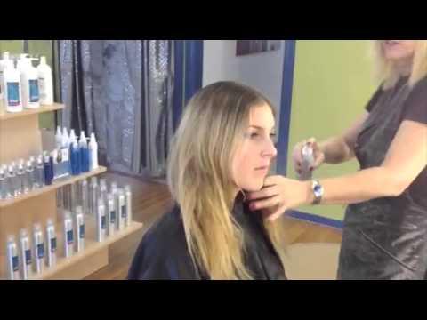 Sea Salt Spray on Wet Hair