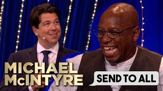 Michael Climbs Ladder To Unlock Ian Wright's Phone! | Send To All | Michael McIntyre