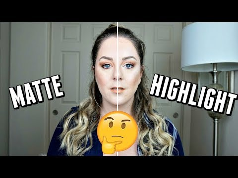 MATTE VS HIGHLIGHT | The Jaclyn Hill Challenge | MakeupbyMegB