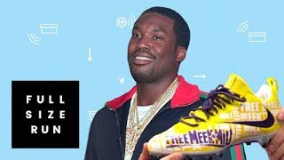Free Meek Mill Cleats Customized for NFL Championship Sunday | Full Size Run