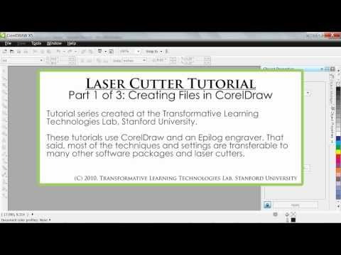 Laser Cutter Tutorial - FabLab@School - Part 1 of 3: Creating Files in CorelDraw