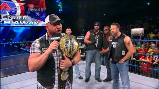 World Champion Bully Ray with the Aces and Eights - August 29, 2013