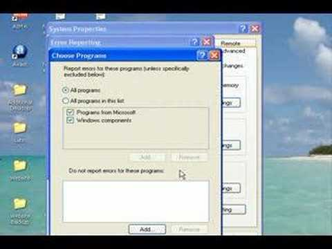Disable Those Annoying Error Messages!