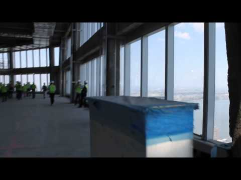View from the 64th floor Sky Lobby of One World Trade Center