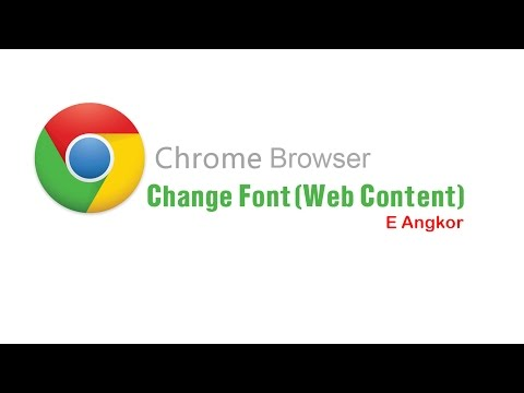 How to change font on Chrome Browser
