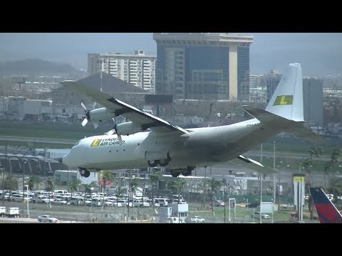 Lynden L-100 Last Minute Runway Change!! San Juan (SJU), Puerto Rico