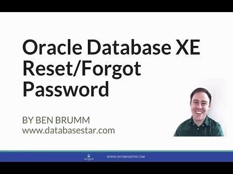 Oracle Database XE Forgot Password