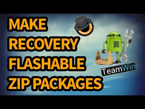 Make Recovery flash-able zip files in Android