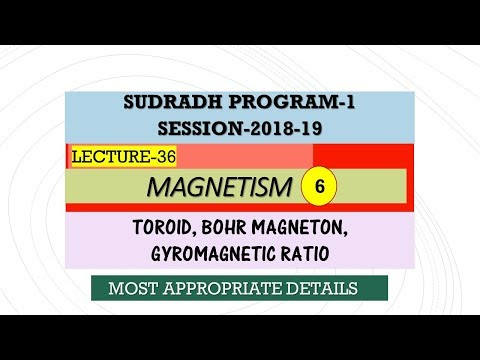 L-36, Magnetism-6, [Sudradh-1] 2018-19 ,xii  physics fundamentals