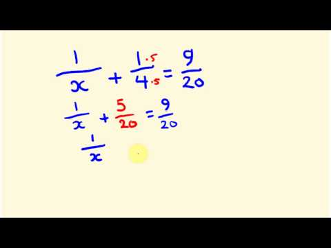 Fractions - how to find an unknown denominator