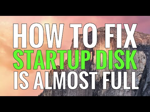 Your Startup Disk Is Almost Full - EASY FIX
