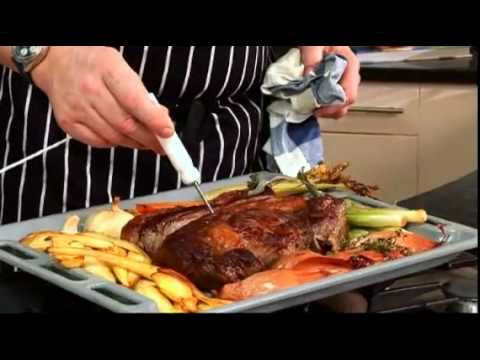 Roast Rib of Beef with Roasted Carrots, Leeks and Parsnips.flv