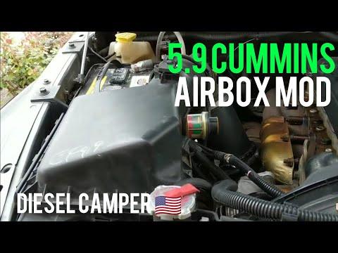 5.9 Cummins Swiss Cheese Air Box FREE Mod