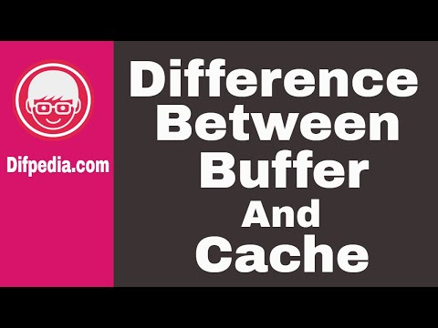 Difference between Buffer and Cache