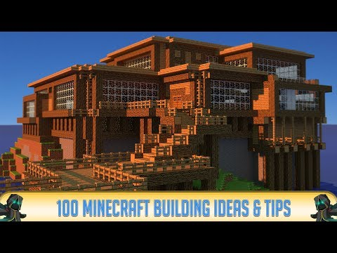 100 Minecraft Building Ideas & Building Tips for PC/Java, PE 1.1.5, Xbox One, PS4, Nintendo Switch!