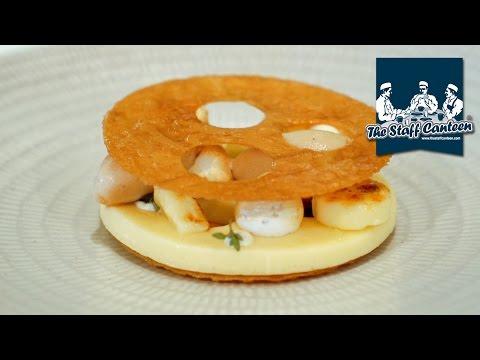 2-Michelin star Marcus Wareing creates smoked egg with wild mushrooms and a lemon meringue dessert