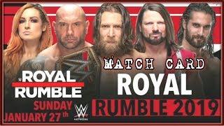 Wwe Royal Rumble 2019 Match Card/World Wrestling Tamil