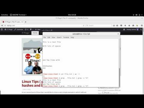 Linux Tips and Tricks ( grep remove hashes and blank lines )